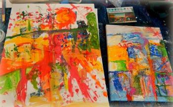 Travel Paintings in Progress