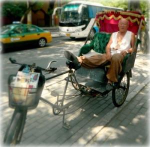 Man in Cycle Rickshaw