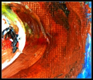 Detail of my painting, I Thought of Art