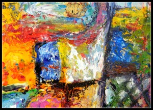 Detail of painting, Elemental Wisdom