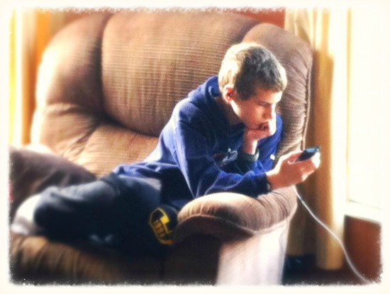 Relaxing with iPod