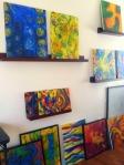 Wall of paintings in my studio