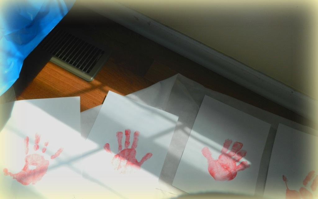 Red Kid's Handprints