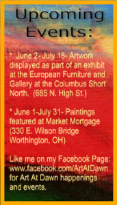 Art At Dawn June Events