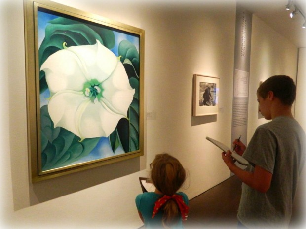 Drawing Inspiration at the Geogia O'Keefe Museum
