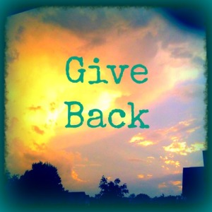 Always give back