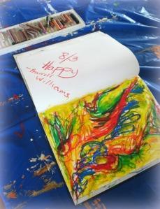 Drawing in my 365 music sketchbook