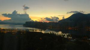 View of Hong Kong Bay at dawn