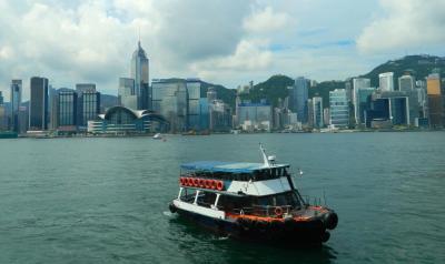 The Flying Chagall- Hong Kong Harbor with Boat
