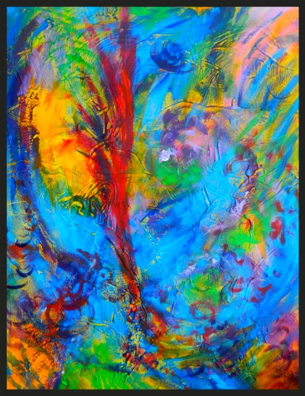 Inspiration acrylic painting