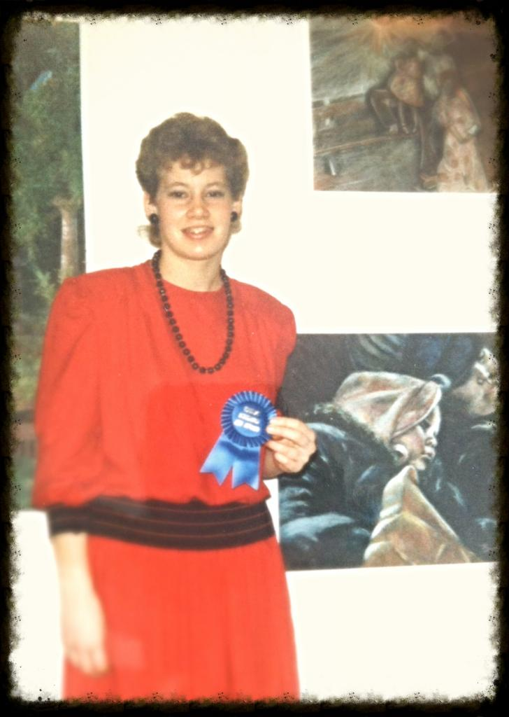 Winning an award for a drawing